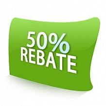 50% Rebate